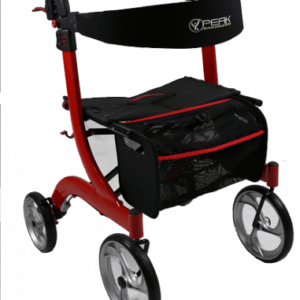 Ellipse Lite Aluminium Rollator - Red Medium