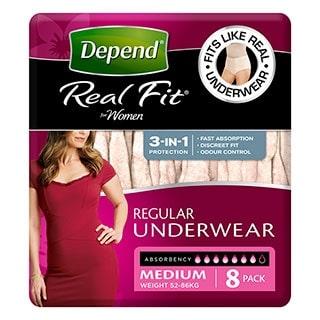 Depend U/wear Realfit Women Medium  8