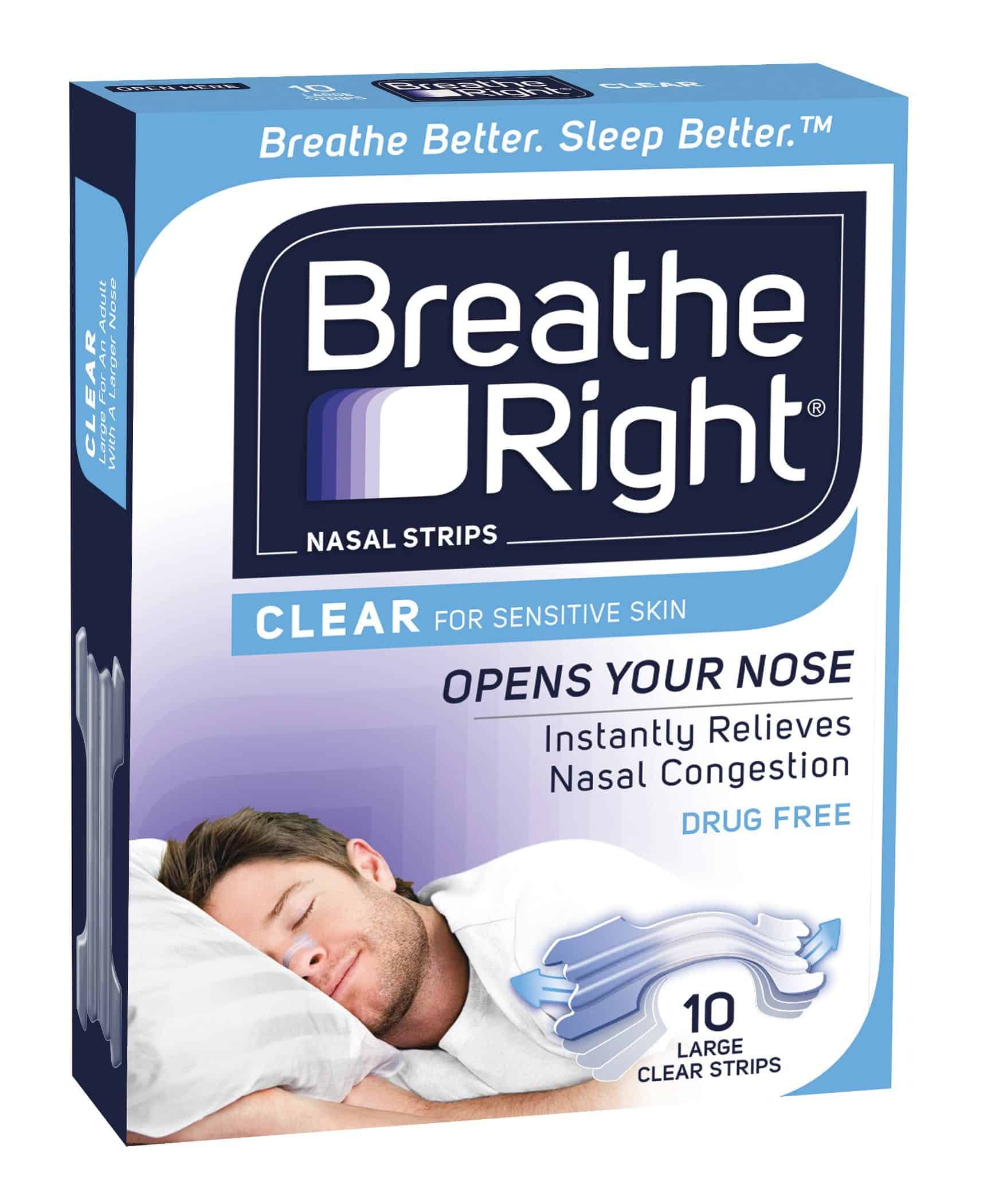 Breathe Right Clear Sm/Med 10