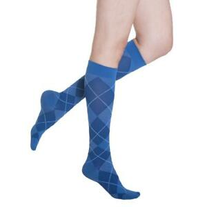 Compression Stocking MicroFibre Shades Men Size B Blue