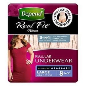 Depend U/wear Realfit Women Large  8