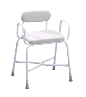 Shower Stool Padded Bariatric 254kg Arms and Padded Back